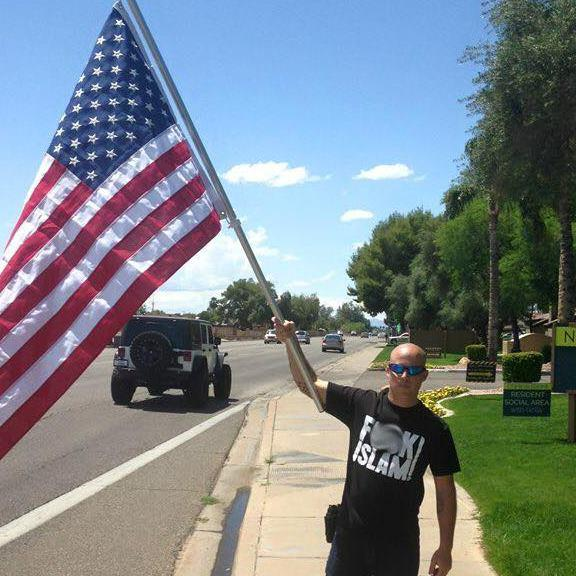 Jon Ritzheimer, organizer of the anti-Muslim Draw Muhammad cartoon ralley in Arizona in 2015.